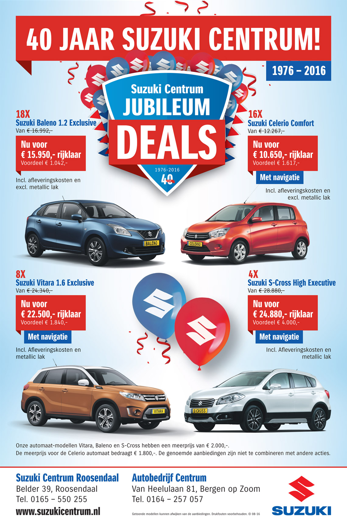 Flyer 40 jaar Suzuki Centrum